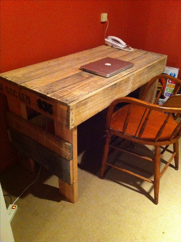Pallet desk. #pallet #desk #palletfurniture #upcycle