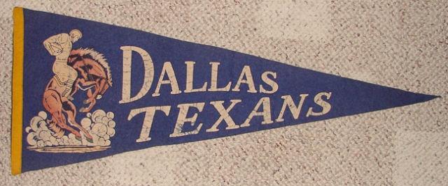 Dallas Texans PENNANTS American Football League