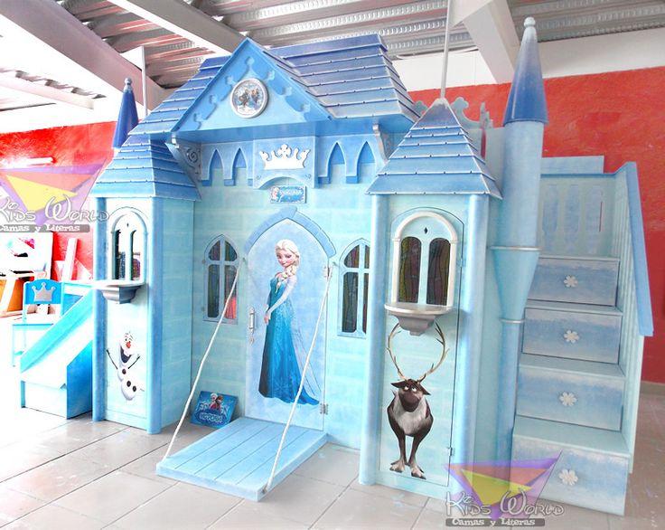 Las 25 mejores ideas sobre cama de castillo en pinterest for Habitaciones para ninas frozen
