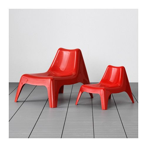 Gartenmobel Gunstig Non Wood : IKEA PS VÅGÖ Sesselaußen  rot,IKEA