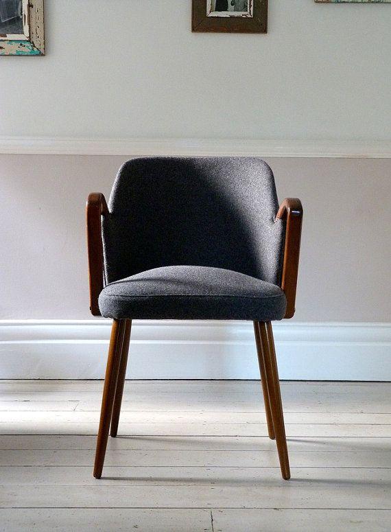 Chaise de bureau de mi-siècle Vintage / chaise par OrmstonSaintUK