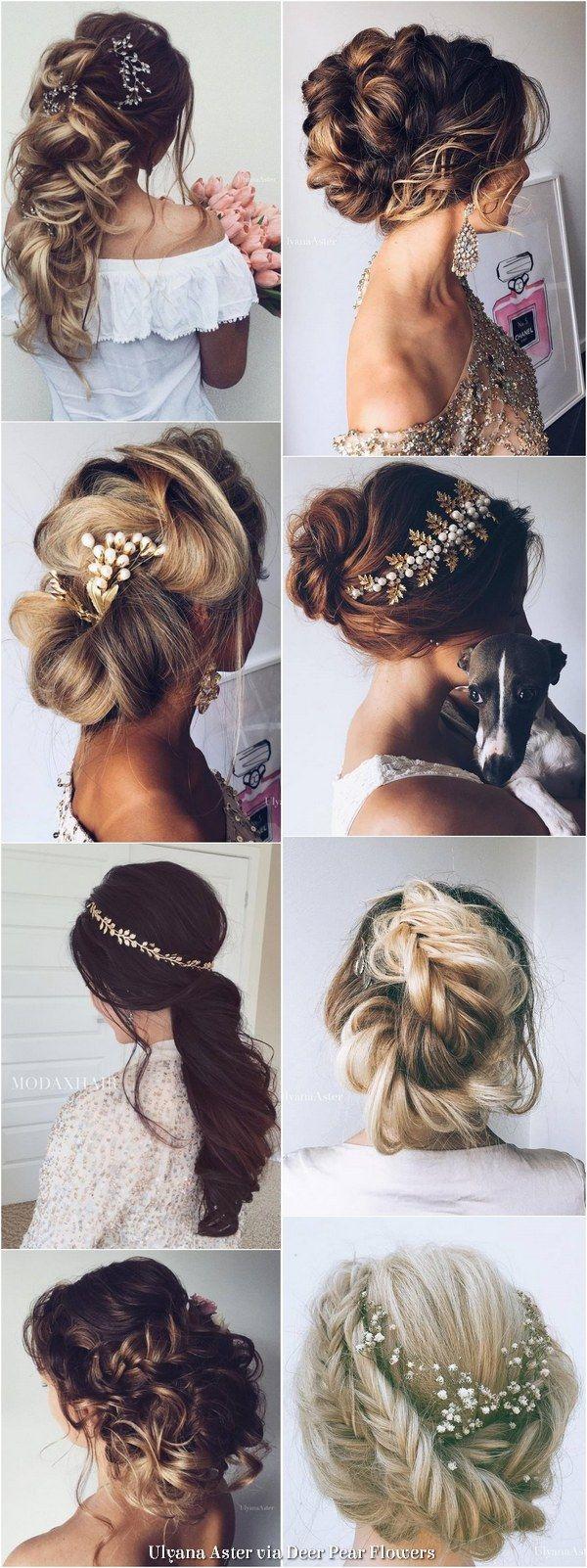 Ulyana Aster Long Wedding Hairstyles Inspiration - www.ulyanaaster.com   Deer Pearl Flowers
