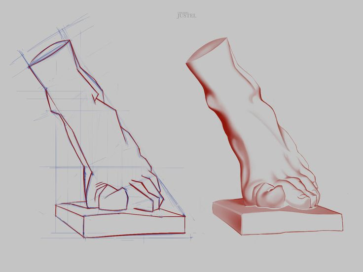 Bargue - Anatomy 2013 - 2D Version - Foot