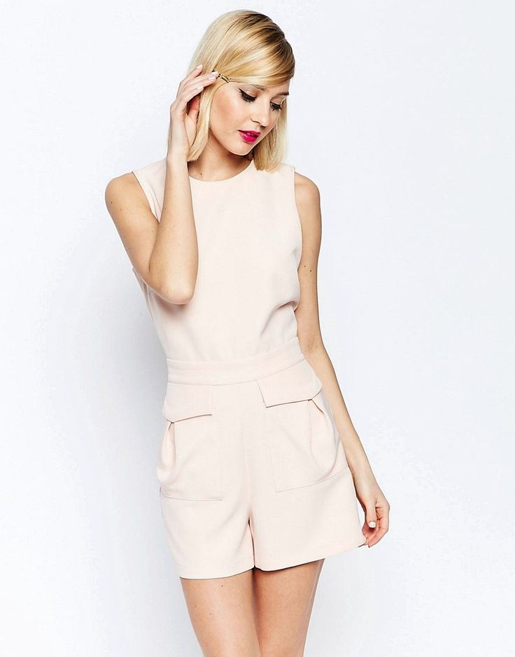 ASOS+Woven+Occasion+Playsuit+with+Patch+Pockets