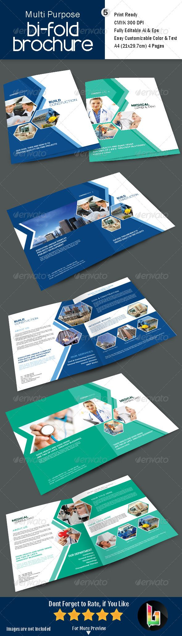 Multi Purpose Bi-Fold Brochre - V5