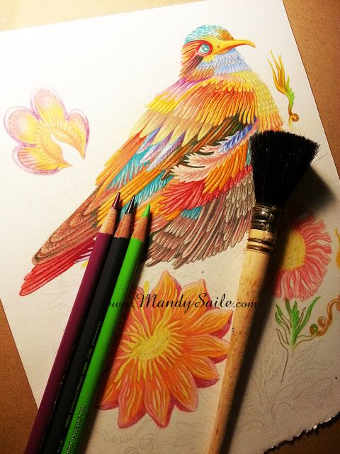 Creating Vivid and Happy Art Inspired by Rabbits and Chronic Pain: A Pretty Bird