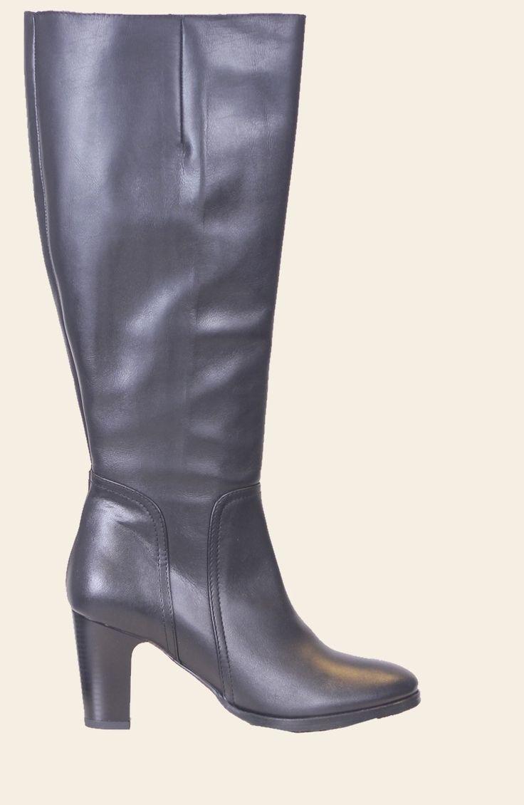 Tijdloze chique laarzen met gladde schacht en hoge hak van Head over Heels 342005   Jenny Boots de specialist voor de brede schacht