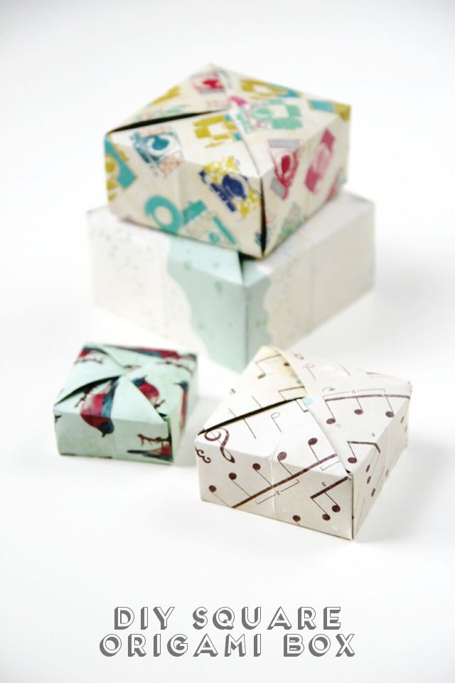 DIY Square Origami Box
