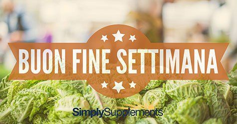 Buon Fine Settimana da SimplySupplements