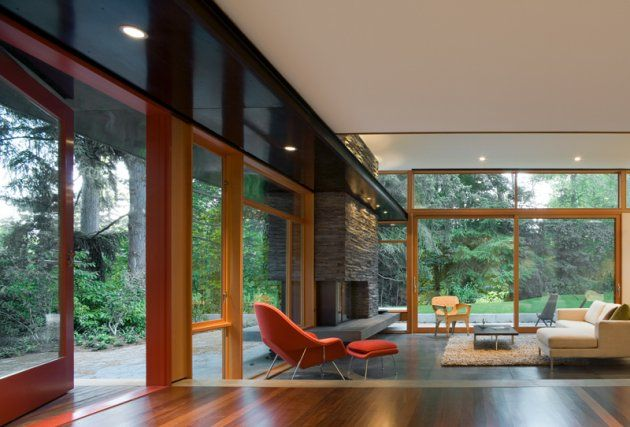 The #Seattle, Washington office of Bohlin Cywinski Jackson #Architects redesigned a 1950s mid-century #modern #home to give it a new #contemporary life for a young family.
