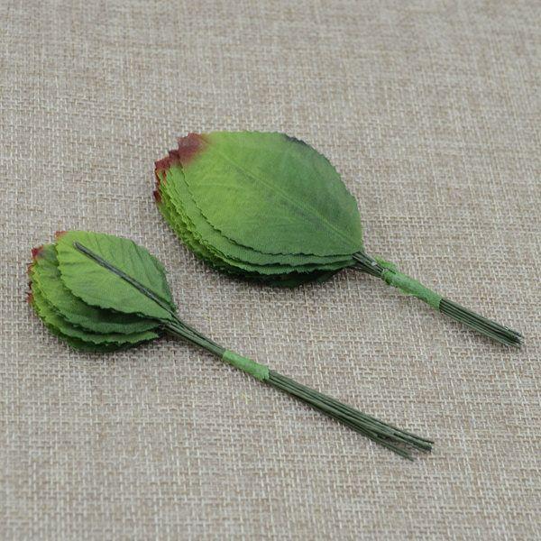 De seda de Flores Decoración de La Mejor Price12pcs/lot DIY Scrapbooking Flor Artificial Ramillete garland wreath