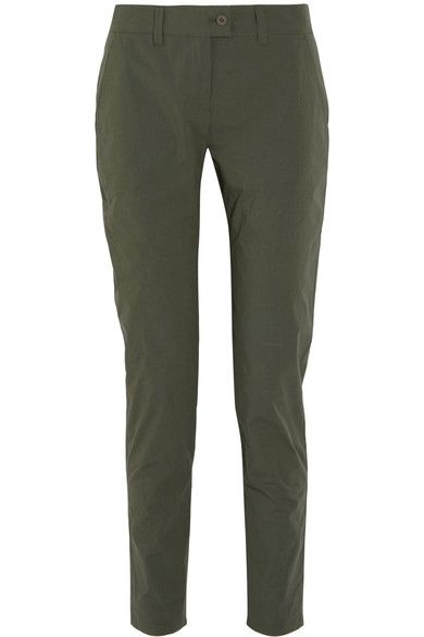 Tomas Maier - Cotton-blend Tapered Pants - Army green - US8