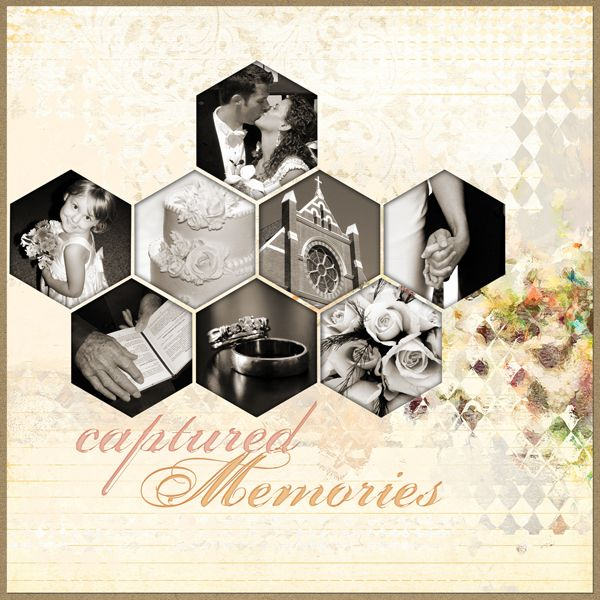 Captured Memories...like the hexagon cut out photos that capture the little details of a wedding day.