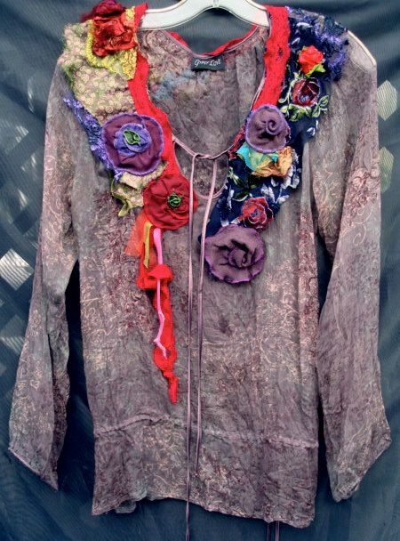 Silk Bohemian Hippie Shabby Chic Tunic Top by GypsyLoveHeadbands, $180.00