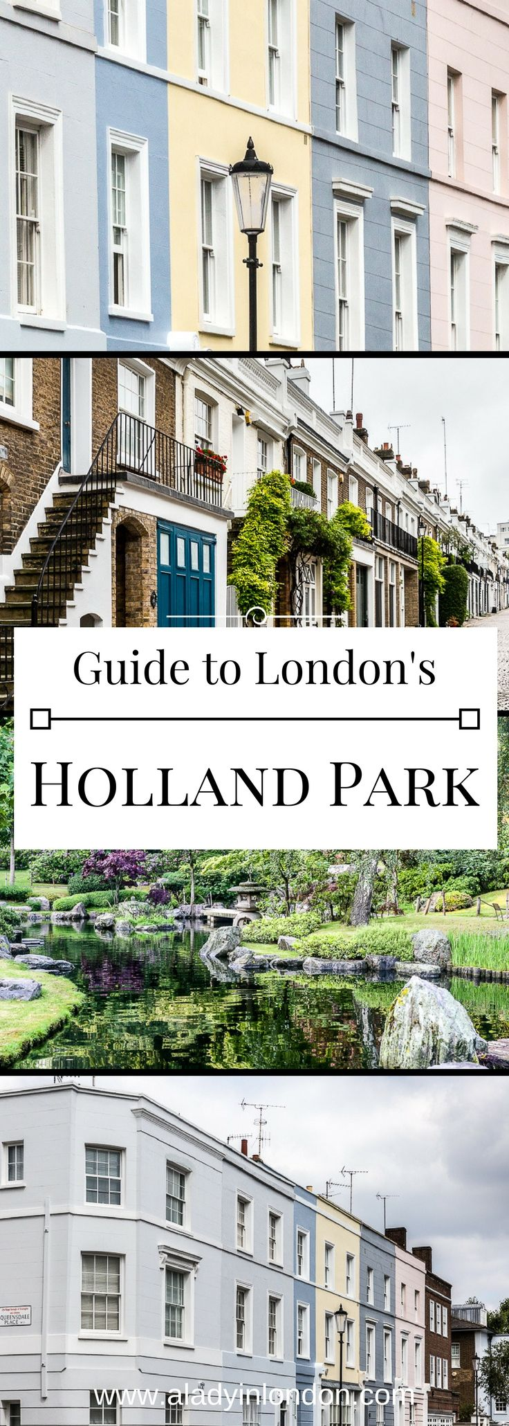 A lovely guide to Holland Park, London. From pretty streets to leafy parks, this is a neighborhood worth exploring.   #london #hollandpark
