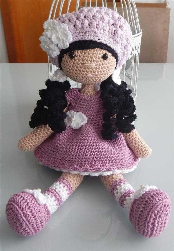 Amigurumi de Crochê (Boneca Grande) | Bonecas de crochê, Bonecas ... | 861x600