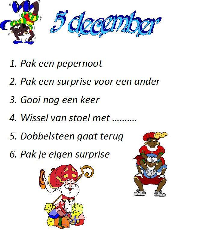 Dobbelspel Sinterklaas in groep 6!