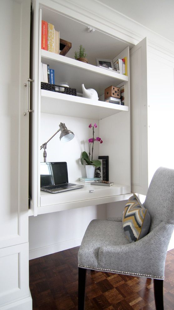 built in desk cabinets Home Office Transitional with built in office built-in