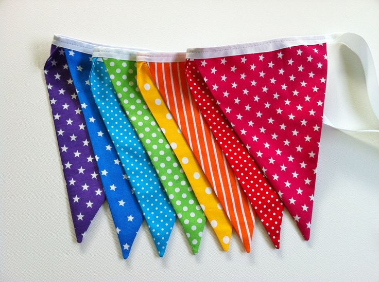 Rainbow Bunting / Banner / Flags / Garland by MilkyAndMe on Etsy