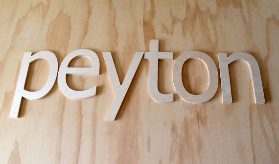 12 INCH unfinished wooden letters-wooden wall letters- nursery letters- hanging letters- any FONTS on Etsy, $7.50