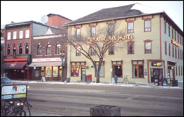 """The Guilty Martini (Strathcona Hotel), Edmonton, Alberta - built at the turn of the century - used for many things including apartments over the years with reported paranormal activity - ghost named """"Dapper Dan"""" is seen and heard throughout, hair pulled, glasses moved, people touched...."""