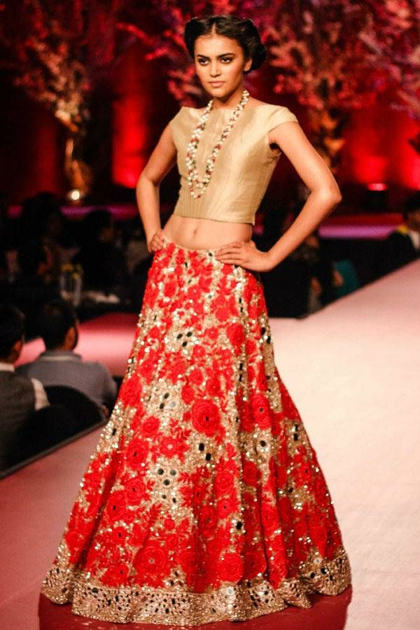 A model walks the ramp during the 60th Britannia Filmfare pre-awards party, held at Hyatt Regency, in Mumbai, on January 22, 2015. (BCCL/Tejas Kudtarkar) See more of : Manish Malhotra Filmfare show