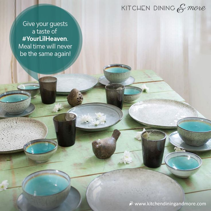 OFFWHITE & GREEN STONEWARE COLLECTION.  Add flair to your dining table with this modern green & white glazed stoneware collection. Be it any occasion, this dinnerware collection is perfect for any table setting.        #YourLilHeaven #KitchenAndDining #Dinnerware #Crockery #KitchenEssentials #DineInStyle #Stoneware