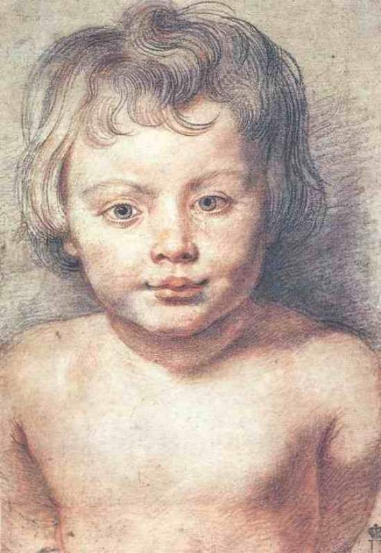 Sketch of a Child by Peter Paul Rubens (Flemish, 1577-1640):