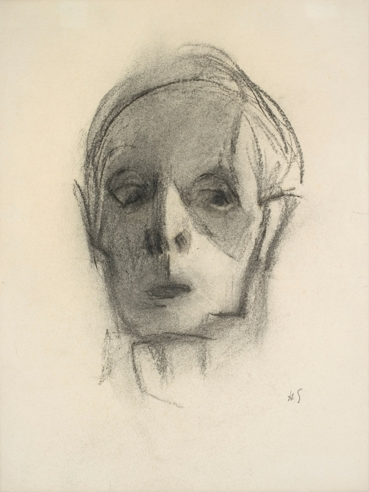Helene Schjerfbeck, 1944-45. Self portrait