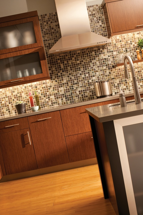 Contemporary Kitchen   The Aluminum Framed Accent Door And The Stainless  Steel Hood Provide Industrial Flavor