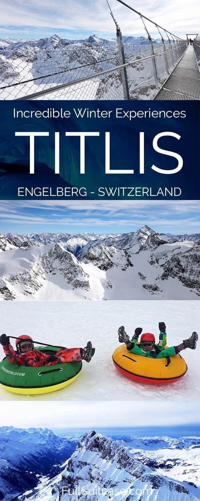 Incredible winter experiences on Mount Titlis in Engelberg, Switzerland