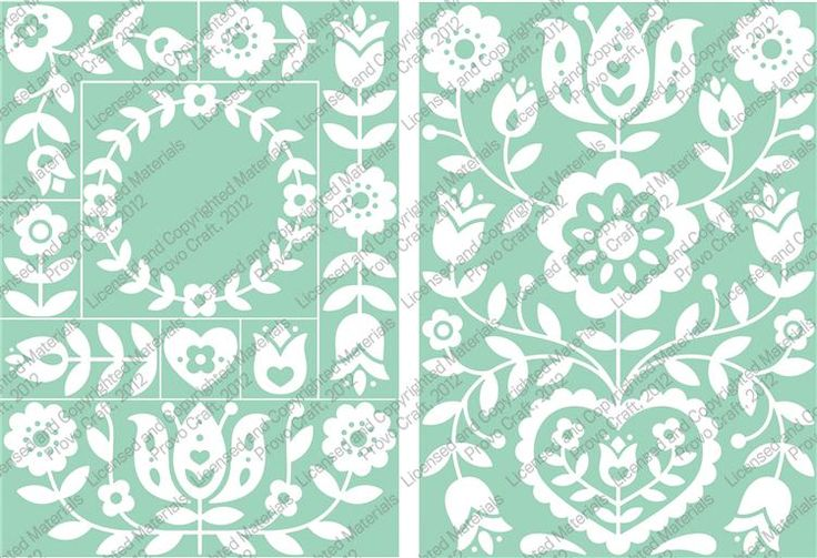 Cricut Cuttlebug Repositionable Embossing Plates Floral