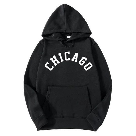 2018 New Fashion CHICAGO City Band Winter Bomber Hoodies men Jackets Casual Hip Hop Mens Hoodies Sweatshirts S-3XL