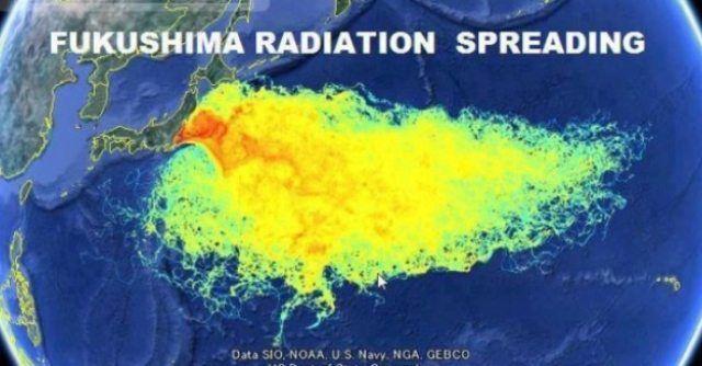 Study Fukushima Radiation Has Already Killed Americans - Japan radiation map 2016