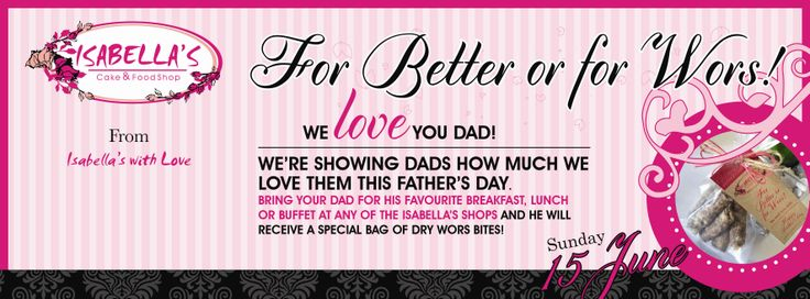 Just to show our Dad's how much we love them!  #forbetterorwors #lovedad #superhero