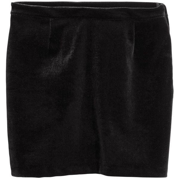 Velvet Skirt $34.99 (250 DKK) via Polyvore featuring skirts, stretch velvet skirt, stretchy skirt, stretch skirts and velvet skirt
