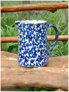 Blue & White Spongeware