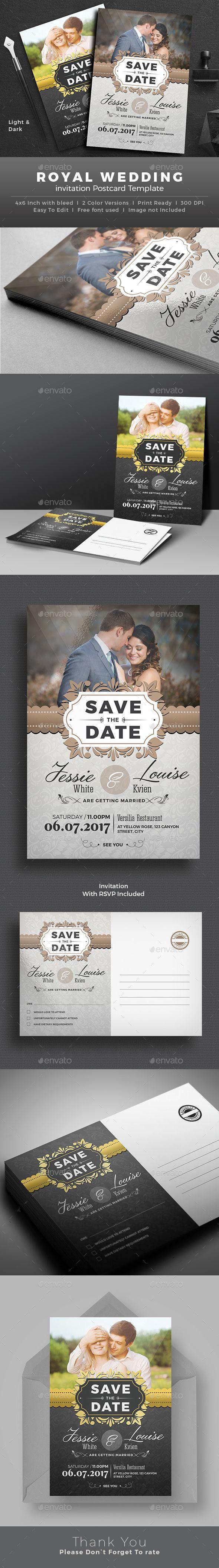 Wedding Invitation Card Design Template - Weddings Cards & Invite Template PSD. Download here: http://graphicriver.net/item/wedding-invitation/16894013?s_rank=20&ref=yinkira