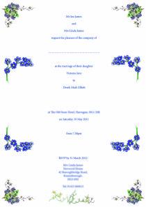 Inside wedding invitations ... 'tying the knot'