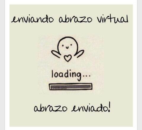 Enviando un abrazo virtual... ☺ #amor #amistad