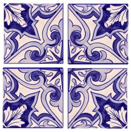 Galleries - A1-Portuguese tiles - 11-Cascais azul 4 tile.