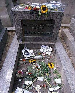 Jim Morrison 1943-1971 . The Pere-Lachaise cemetery in Paris, established in 1804 by Napoleon Bonaparte.  Along with celebrated artists, musicians, and writers. Edith Piaf, Max Ernst and Oscar Wilde.