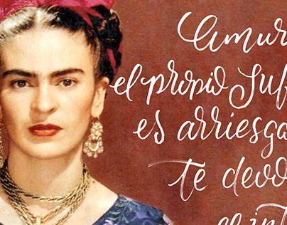 "Check out new work on my @Behance portfolio: ""Frida kahlo Caligrafía"" http://be.net/gallery/43248643/Frida-kahlo-Caligrafia"