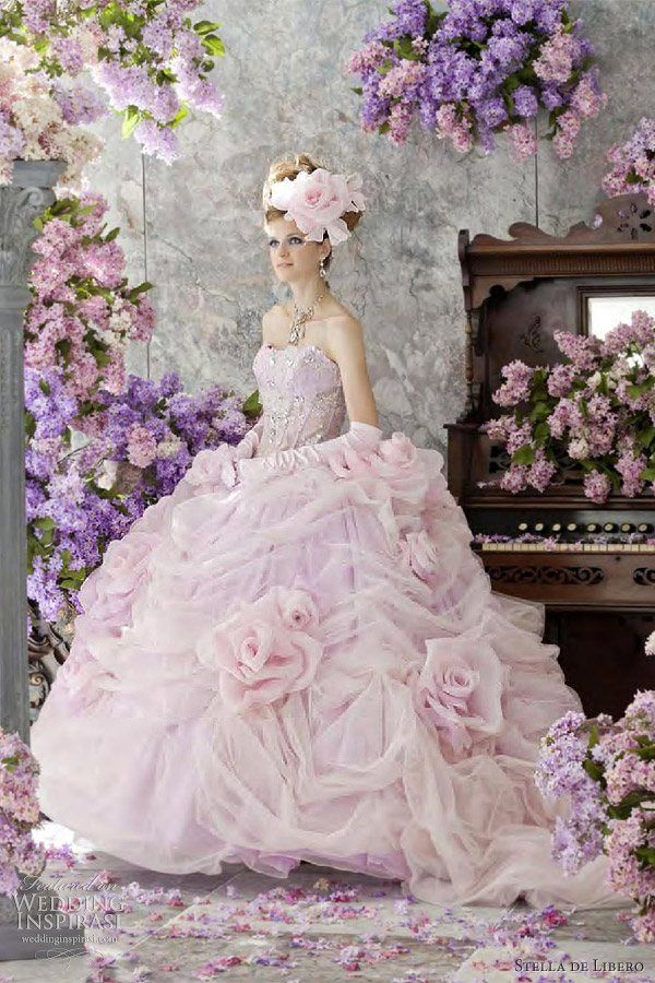 Stella de Libero 2012 Wedding Dress Collection: Wedding Dressses, Pink Wedding Dresses, Ball Gowns, Bridal Dresses, Weddings, Dresses Collection, Star Of, Ballgown, Libero