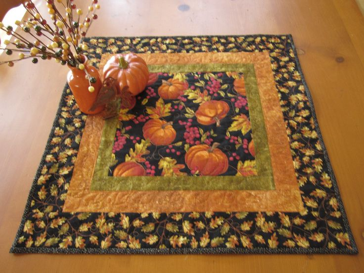 Fall Table Topper Pumpkins