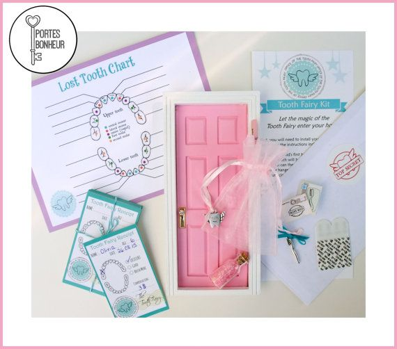 Tooth Fairy Door Kit Baby Pink Tooth Fairy by Portesbonheur