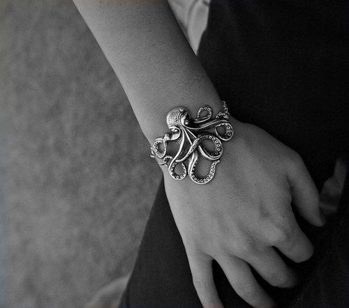 Olivia Paige  Rockabilly octopus bracelet by OliviaPaigeClothing, $15.00