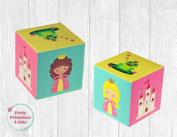 Princess Favor Box Treat Box DIY Gift Box Printable PDF
