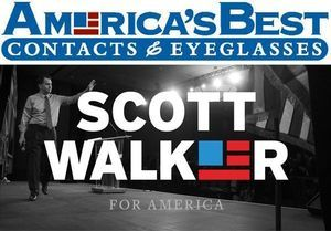 Scott Walker's presidential campaign logo came under fire for looking like America's Best's logo.