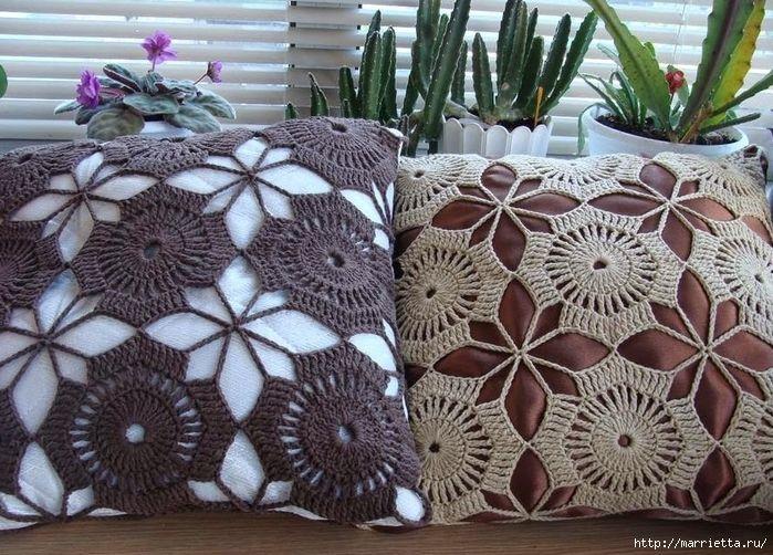 Вязание крючком декоративного чехла для подушки (3) (700x502, 355Kb)